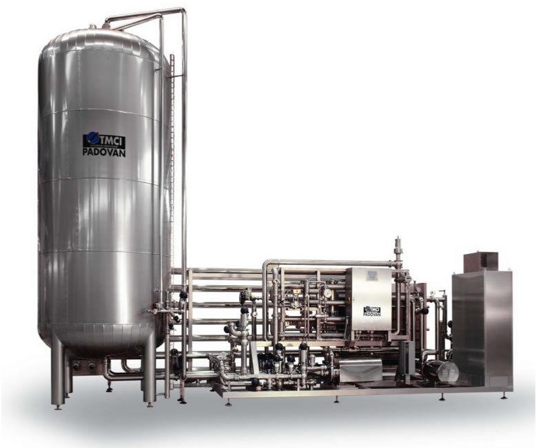 Plate flash pasteurizer for fruit juices and nectars, soft drinks, syrups and infusions
