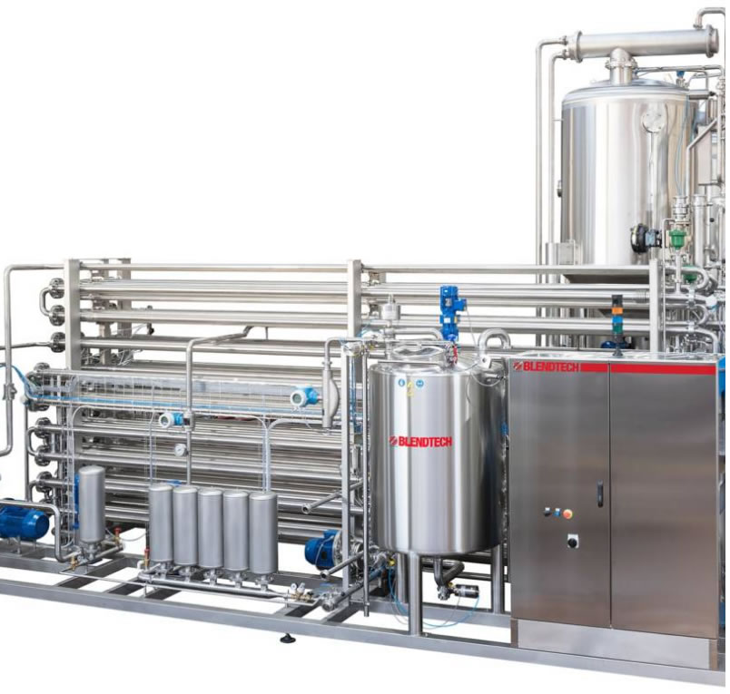 Tubular pasteurizer for fruit juices and nectars, soft drinks, syrups and infusions